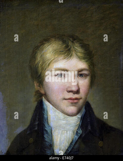 Henry Arend van den Brink at the age of seventeen - by Benjamin Wolff, 1800 - Stock Image