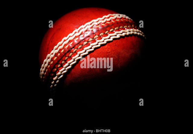 A cricket ball - Stock Image