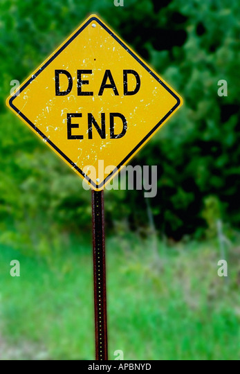 Dead End Sign Copy Space - Stock Image