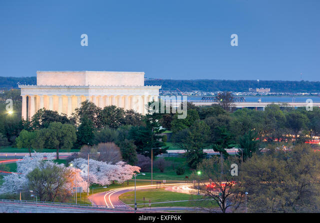 Washington, D.C. at Lincoln Memorial. - Stock Image