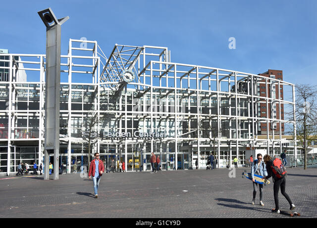 Leiden Centraal ( Central ) Train station The Netherlands Dutch - Stock Image