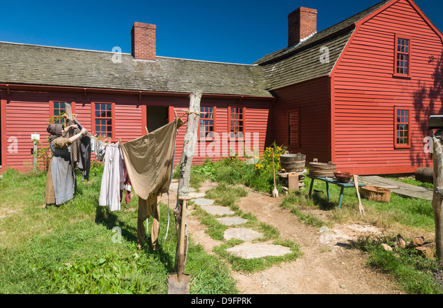 Recreating past times at Old Sturbridge Village, a museum depicting early New England life, Massachusetts, New England, - Stock-Bilder
