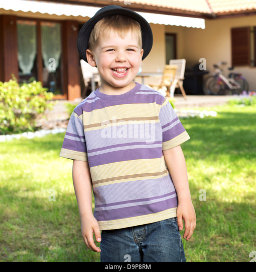 Fantastic picture of laughing child - Stock Image