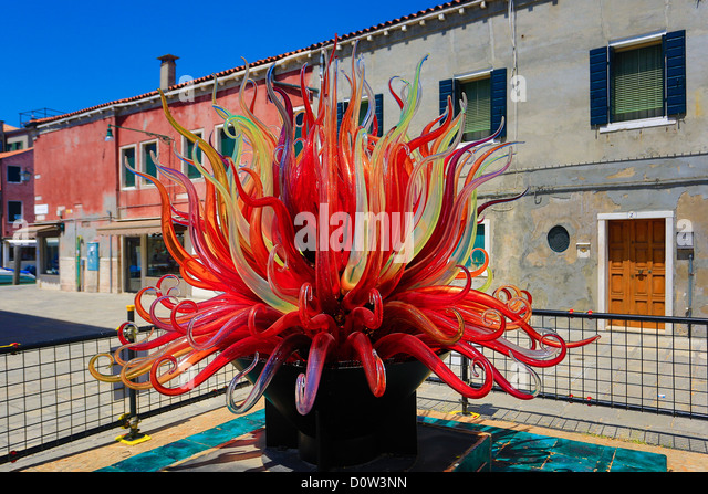 Italy, Europe, travel, Murano, Glass, Monument, red, tourism, Unesco, Venice - Stock-Bilder