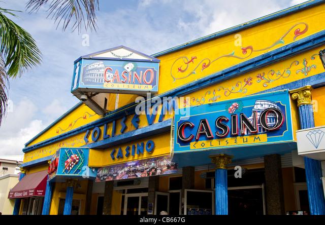 Coliseum Casino, Philipsburg, Front St, St Maarten - Stock Image