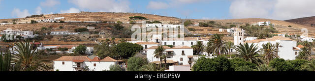 Panorama, Cathedral church of Saint Mary of Betancuria in Fuerteventura , Canary Islands, Spain - Stock Image