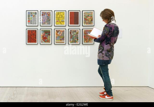 United Kingdom London Chelsea Saatchi Gallery Steven Lowery work - Stock Image