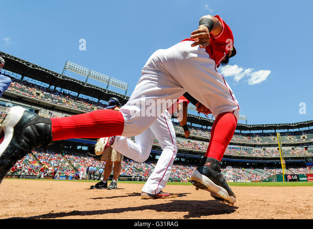 June 5, 2016: _______ during an MLB game between the Seattle Mariners and the Texas Rangers at Globe Life Park in - Stock-Bilder