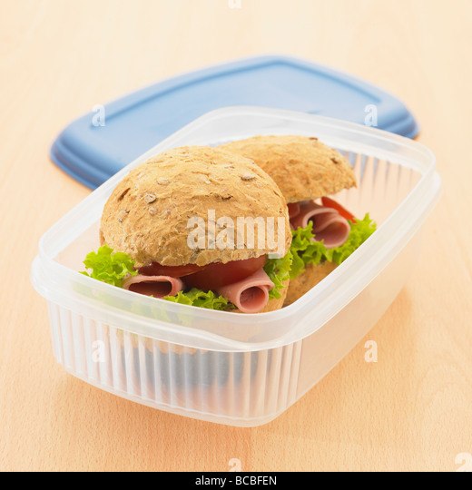 Healthy packed lunch. - Stock Image