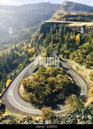 Rowena Crest Oregon - Stock Image