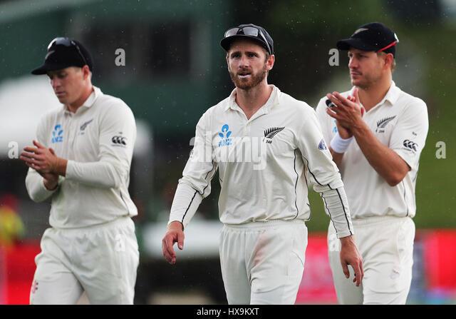 Hamilton, New Zealand. 25th Mar, 2017. March 25th 2017, Hamilton, New Zealand; Blackcaps captain Kane Williamson - Stock-Bilder