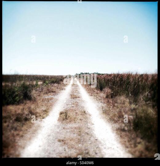 Lonely road - Stock Image