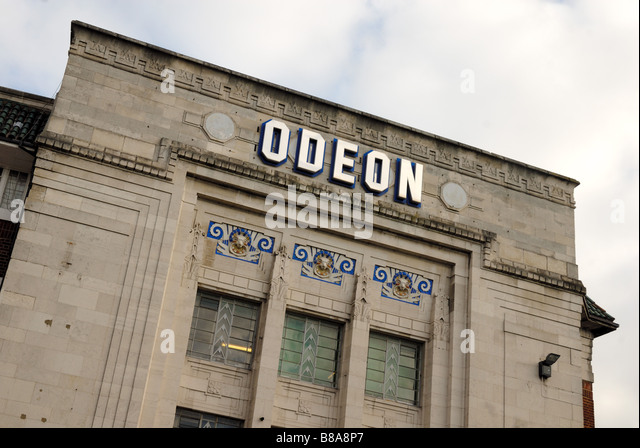Odeon cinema front - Stock Image
