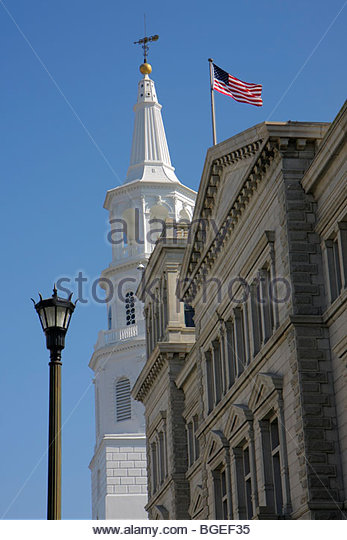 Charleston South Carolina National Historic Landmark Historic District Broad Street US Post Office Museum 1896 architect - Stock Image