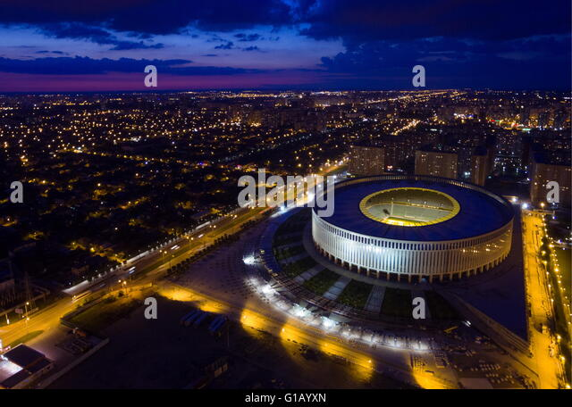 KRASNODAR, RUSSIA. MAY 8, 2016. A view of Krasnodar Stadium. Vitaly Timkiv/TASS - Stock-Bilder