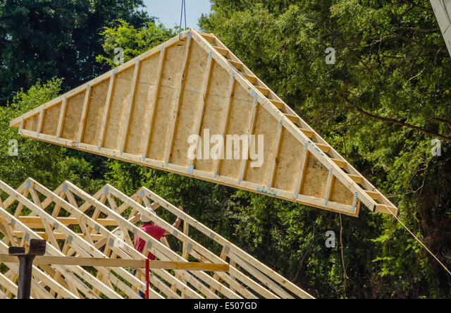 roof truss stock photos roof truss stock images alamy. Black Bedroom Furniture Sets. Home Design Ideas