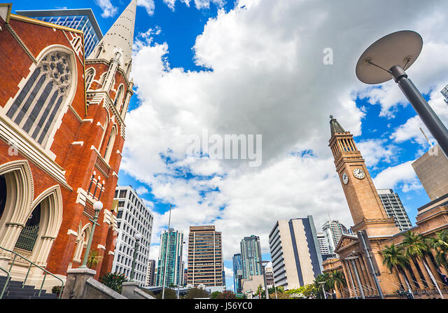 Albert Street Uniting Church Brisbane Queensland Australia - Stock Image