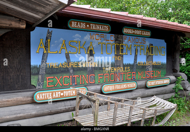 Gifts & Trinkets store and Antique Firearms Museum, Ketchikan, Alaska - Stock-Bilder