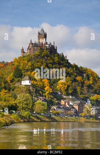 Cochem Castle, Cochem, Rhineland / Mosel Valley, Germany, RF - Stock Image