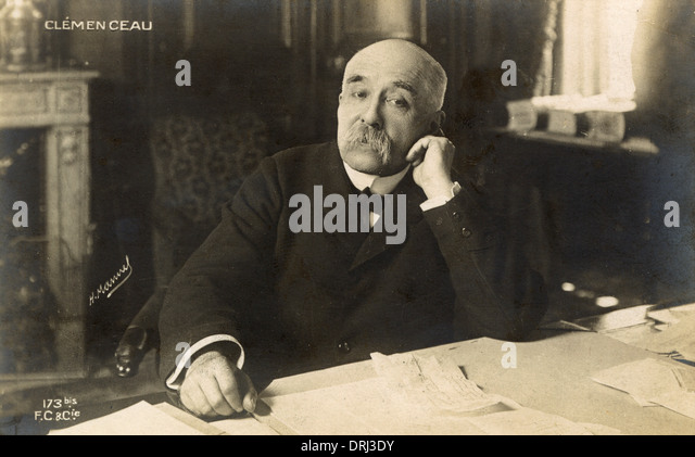 Georges Clemenceau - French President - Stock Image