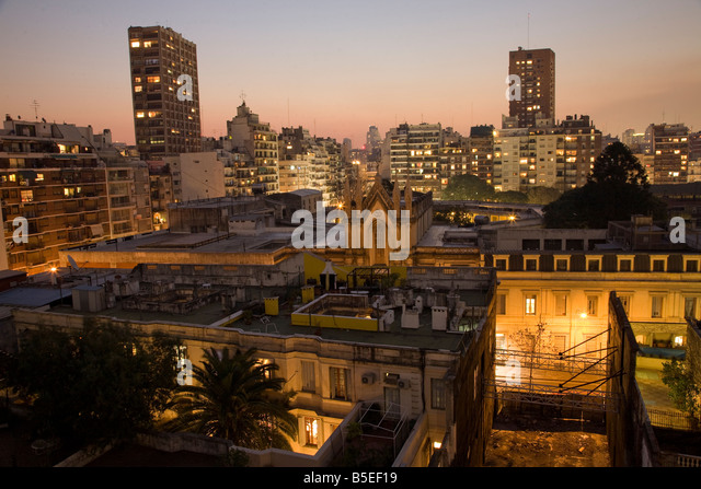 Sunset over Recoleta, Buenos Aires - Stock Image