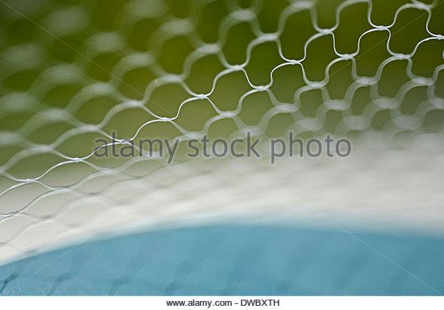 Selective focus of wire mesh - Stock-Bilder