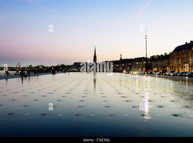 Place de la bourse, Bordeaux, France - Stock Image