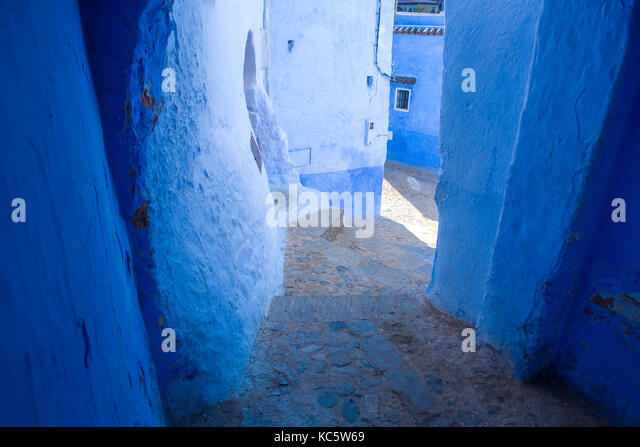 Traditional moroccan architectural details in Chefchaouen, Morocco, Africa - Stock Image