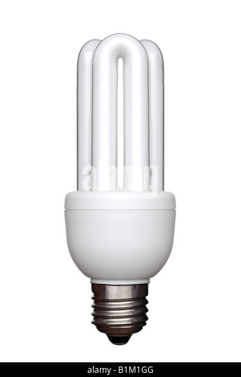 Energy Saving Lightbulb an Environmentally Friendly Alternative to Traditional Light Bulbs - Stock Image
