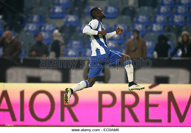 PORTUGAL, Coimbra: Porto's Colombian forward Jackson Martinez celebrates after scoring a second goal during - Stock Image