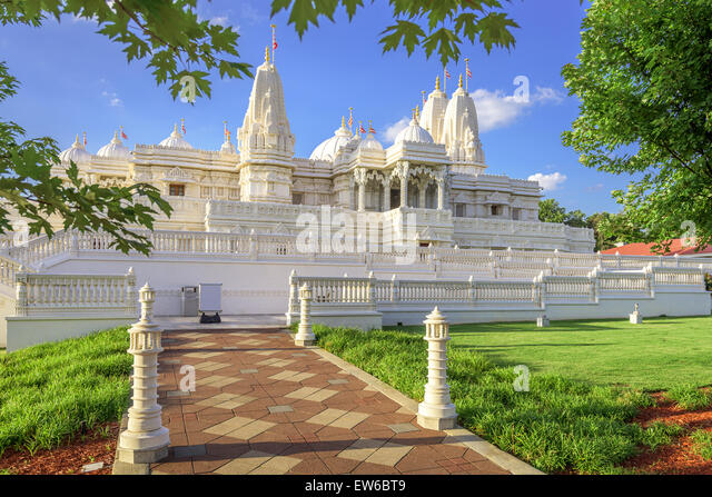 BAPS Shri Swaminarayan Mandir Hindu Temple of Atlanta, Georgia, USA. - Stock Image
