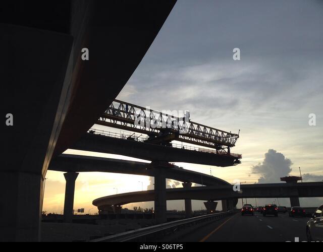 Dolphin & Palmetto Expressway interchange construction, Miami, Florida, USA - Stock-Bilder