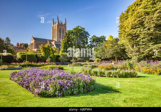 Bury St Edmunds Cathedral and Abbey Gardens, Cambridgeshire, England, UK - Stock Image