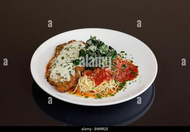 Veal Parmesan. - Stock Image