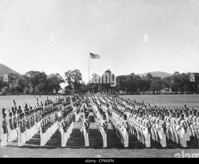 Cadets of the American military academy West Point, 1942 - Stock Image