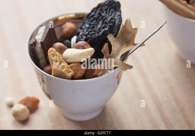 dried fruit mix - Stock Image