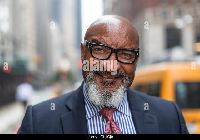 Mature businessman on street - Stock Image