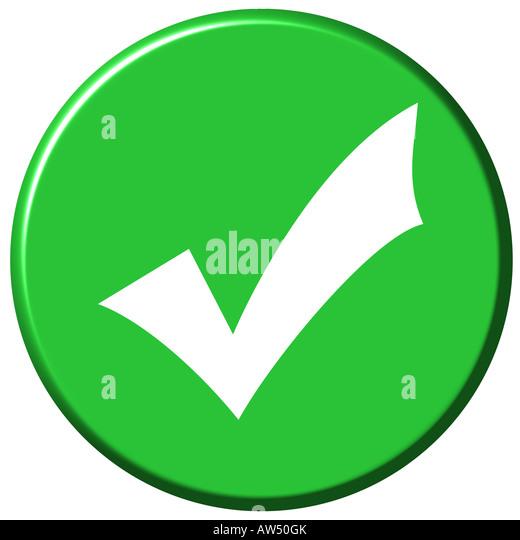 3d ok button - Stock Image