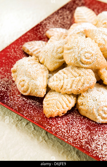 Maamaoul (Ma'amoul) biscuits, Easter biscuits, Lebanon, Middle East - Stock Image