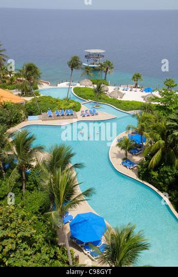 Curaçao Netherlands Antilles Caribbean Sea Dutch Piscadera Bay Hilton Curaçao hotel resort global company - Stock Image
