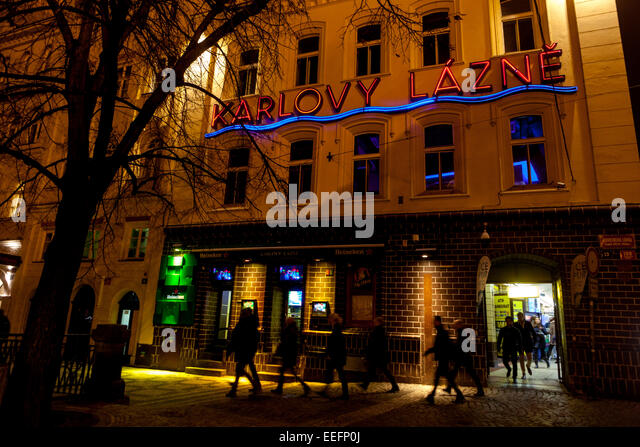 Karlovy Lazne nightclub in old town Stare Mesto Prague Czech Republic - Stock-Bilder