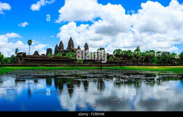 The Ancient Ruins of Angkor Wat - Stock Image