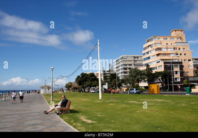 view along beach road sea point cape town south africa - Stock Image