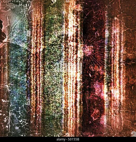 Woollen splatter pattern - Stock Image