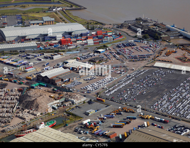 Tilbury Docks, River Thames, Tilbury, South East England - Stock-Bilder