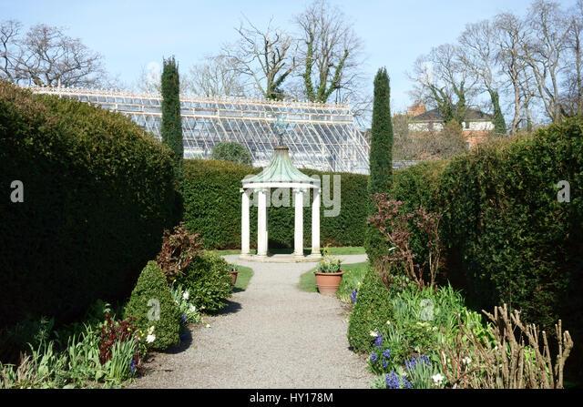 Flower gardens with gazebo stock photos flower gardens for Acacia salon vancouver