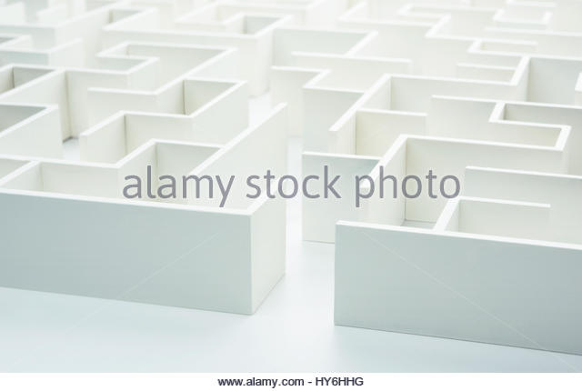 Entering the maze. Concept for decision-making - Stock Image