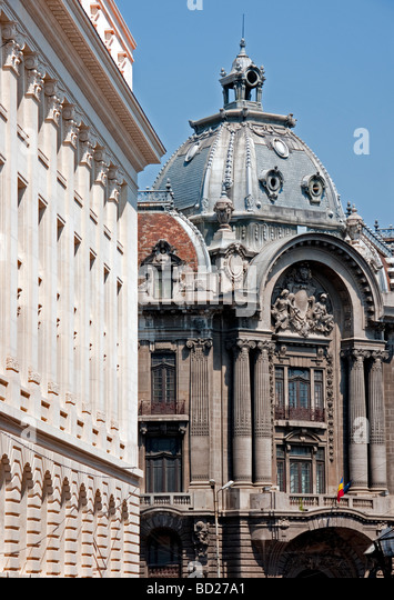 Downtown Bucharest architecture - Stock Image