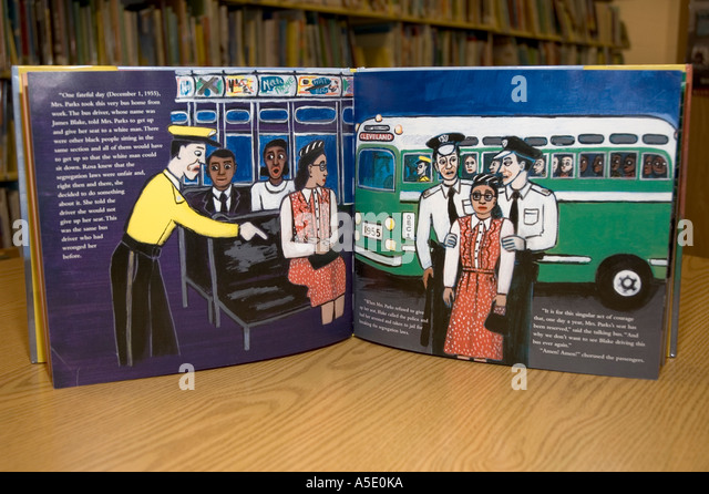 Rosa Parks, Illustrations From Children't Book - Stock Image