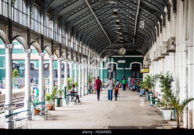 Railway station, Maputo, Mozambique - Stock Image